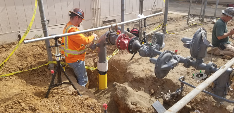 Valley Oaks Elementary, Galt California - Gas Line Replacement